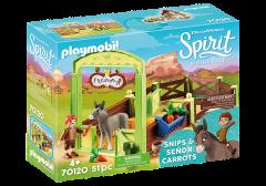 PLAYMOBIL SPIRIT 70120 SNIPS & SENOR CARROTS