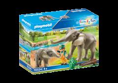 PLAYMOBIL FAMILY FUN 70324 ELEPHANT HABITAT