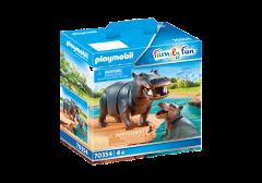 PLAYMOBIL FAMILY FUN 70354 HIPPO WITH CALF