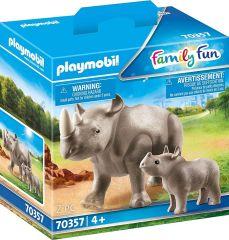 PLAYMOBIL FAMILY FUN 70357 RHINO WITH CALF