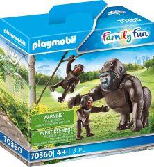 PLAYMOBIL FAMILY FUN 70360 GORILLA WITH BABIES