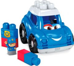 MEGA BLOCKS FIRST BUILDERS LIL VEHICLES CLASSIC PETER POLICE CAR