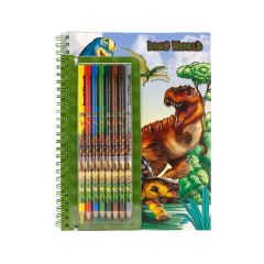DINO WORLD COLOURING BOOK WITH PENCILS