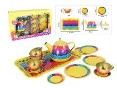 RAINBOW TIN TEA SET 15PC
