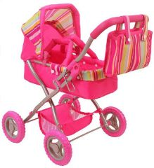 CUBY SMALL DOLLS PRAM WITH REMOVABLE CARRIER