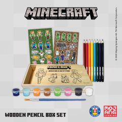 MINECRAFT WOODEN PENCIL BOX SET