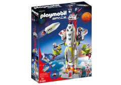 PLAYMOBIL SPACE 9488 MISSION ROCKET WITH LAUNCH SITE