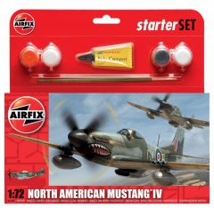 AIRFIX 1:72 NORTH AMERICAN MUSTANG IV STARTER SET