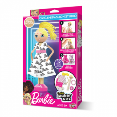 BARBIE WOODEN PEG DOLL WITH ORIGAMI FASHION STUDIO
