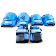 SKATE PROTECTION SET SML BLUE