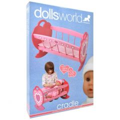 DOLLS WORLD WOODEN CRADLE