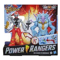 POWER RANGERS DINO FURY RED RANGER VS DOOMSNAKE