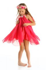 FAIRY GIRLS WATER LILLY FAIRY HOT PINK SML 1-4 YRS