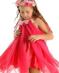 FAIRY GIRLS WATER LILY FAIRY HOT PINK LARGE 6-8