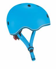 GLOBBER KIDS HELMET WITH FLASHING LED LIGHT SKY BLUE 45-51CM