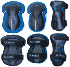 GLOBBER JUNIOR PROTECTIVE PAD SET XS - BLUE