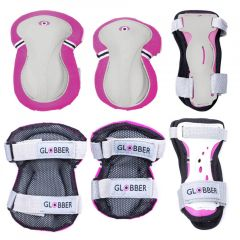 GLOBBER JUNIOR PROTECTIVE PAD SET XS - PINK
