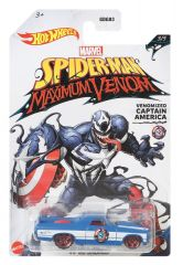 HOT WHEELS SPIDERMAN MAXIMUM VENOM VENOMIZED CAPTAIN AMERICA