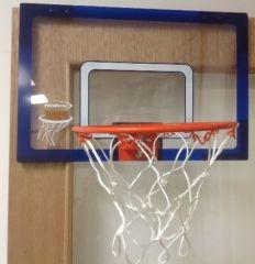 "DOOR MOUNTED MINI BASKETBALL HOOP 18"""