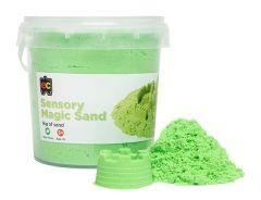 1KG SENSORY MAGIC SAND GREEN