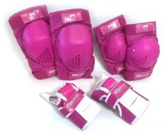 SKATE PROTECTION SET SML PINK