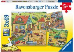 RAVENSBURGER 3X49PC JIGSAW PUZZLE ON THE FARM