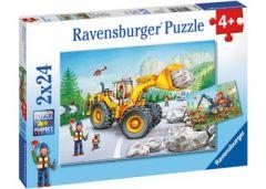 RAVENSBURGER 2X24PCE DIGGERS AT WORK JIGSAW PUZZLE