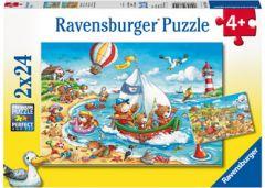 RAVENSBURGER- SEASIDE HOLIDAY JIGSAW PUZZLE 2X24PCE