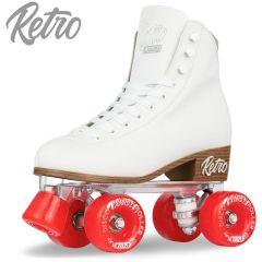 RETRO ROLLER SKATE WHITE- SIZE LADIES 7