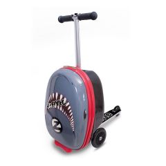 ZINC FLYTE PULL ALONG TRAVEL CASE WITH SCOOTER SNAPPER THE SHARK