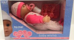 DOLLS WORLD BABY EMMA 30CM SOFT BODIED