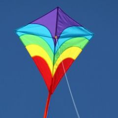 OCEAN BREEZE WAVES DIAMOND KITE