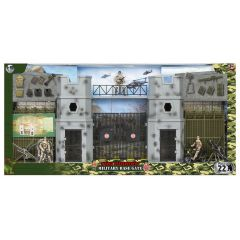 WORLD PEACEKEEPERS MILITARY BASE GATE WITH 3 FIGURES 1:18 SCALE