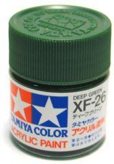 TAMIYA ACRYLIC XF 26 DEEP GREEN FLAT