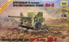ZVEZDA 1:35 QF6-PDR MK-II BRITISH ANTI-TANK GUN AUS DECALS